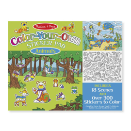 Melissa & Doug | Stickerboek met herbruikbare stickers | Dieren