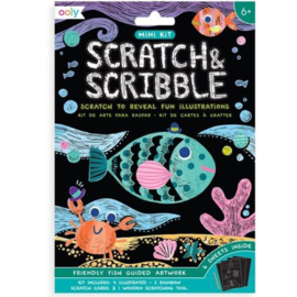 Ooly | Scratch & Scribble | Friendly Fish Guided Artwork