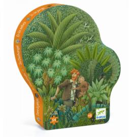 Djeco | Silhouette Puzzle | In The Jungle | 56 stuks