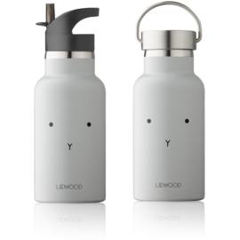 Liewood | Anker Water Bottle | Rabbit Dumbo Grey