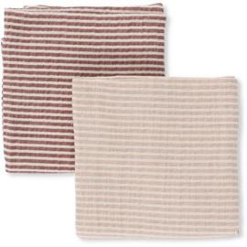 Konges Sløjd | Muslin Cloth Striped | 2 pack GIRL