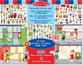 Melissa & Doug I Stickerboek met herbruikbare stickers I Mijn Dorp