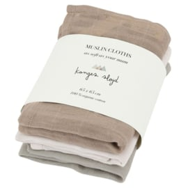 Konges Sløjd | Muslin Cloth  | 3 Pack | Rose Dust