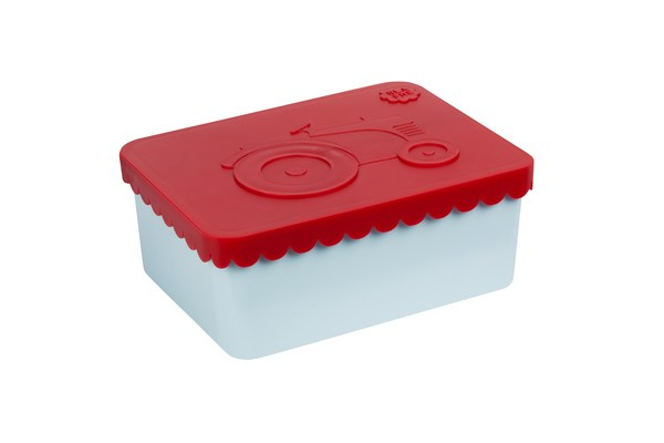 Blafre | Lunchbox tractor | Red light blue