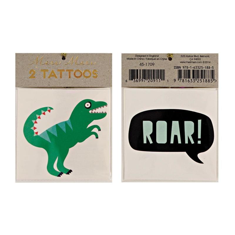 Meri Meri | Dinosaur Tattoos