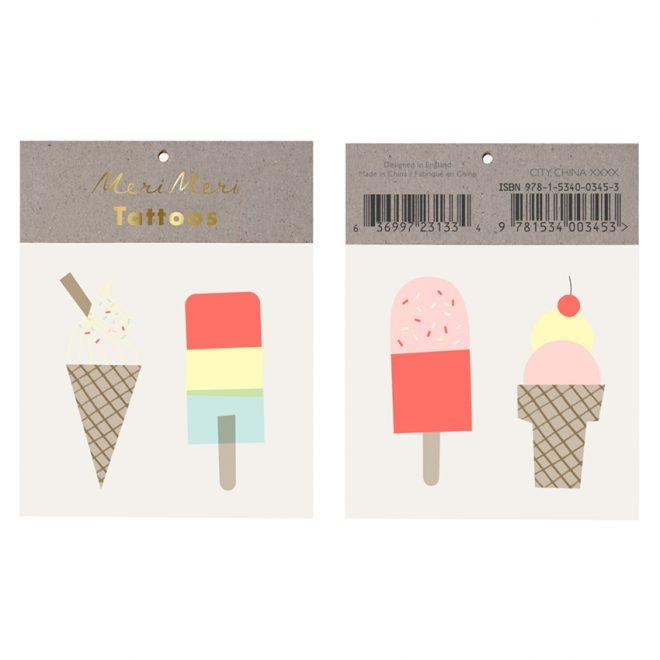 Meri Meri | Ice Creams Tattoos