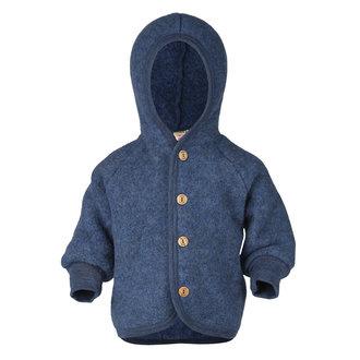 Engel Natur | Hooded Jacket | Blue Mélange
