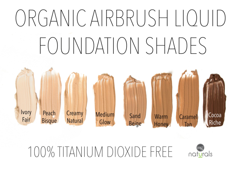 MG NATURALS - Airbrush Miracle Liquid Vegan, Organic Foundation - MEDIUM GLOW