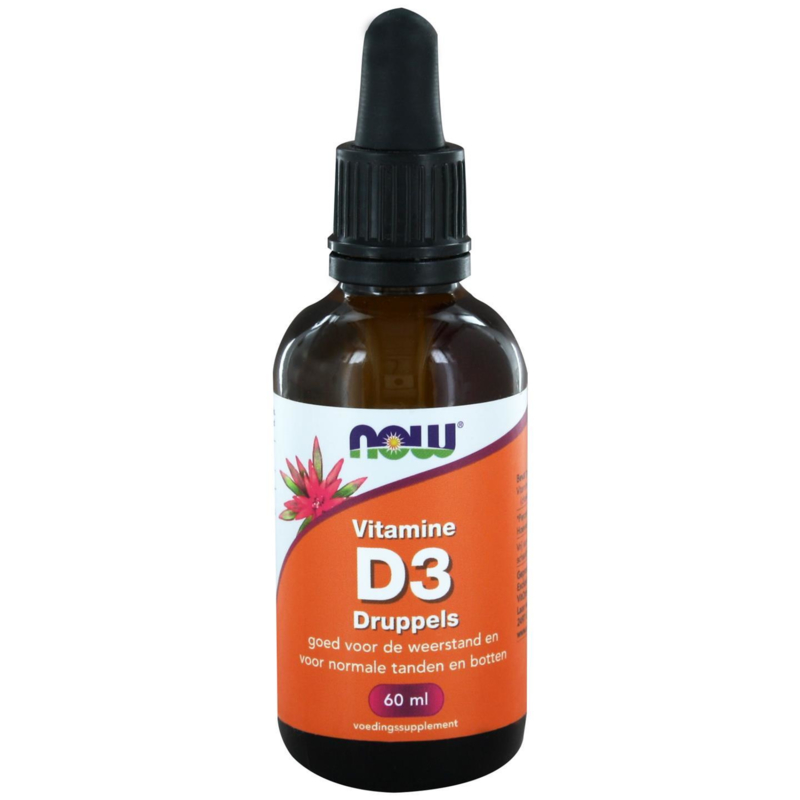 NOW Vitamine D-3 druppels 60 ml.