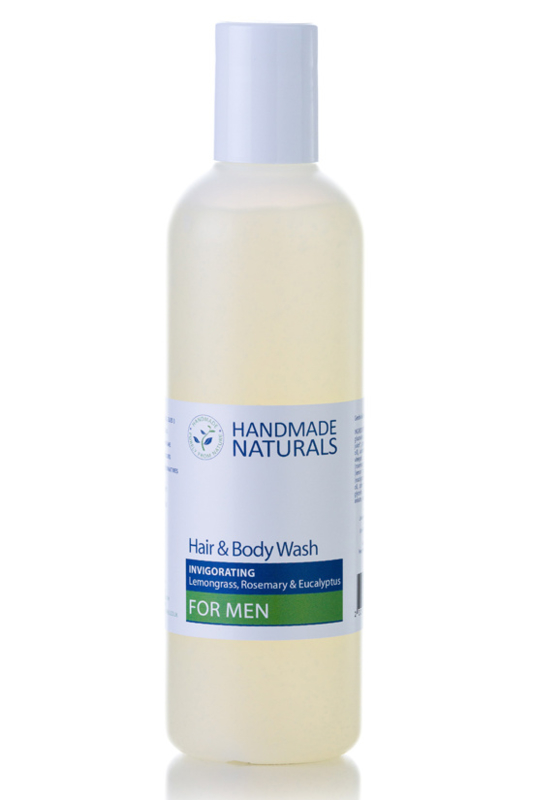 HANDMADE NATURALS - Invogorating Hair & Bodywash for Men 250 ml.