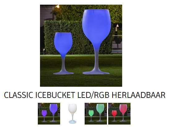 Classic ICE Bucket - LED op accu - nieuw multicolor ! (sta tafel hoogte)
