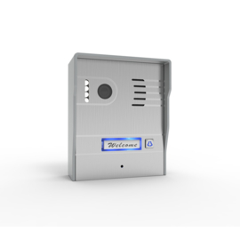 Vision-124 full colour ip PL961M,, videofoon, RVS buitenpost, 7 inch full colour monitor.