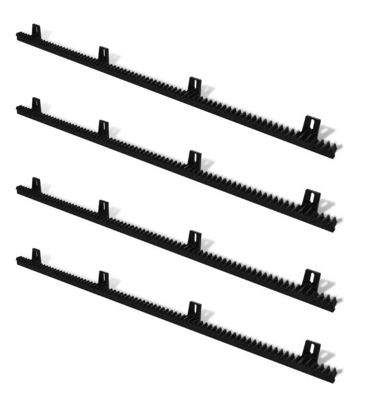 4 meter kunststof tandlat module 4. (19,90,- p/m), versterkt met stalen kern inwendig. Extra sterk en extra stil.