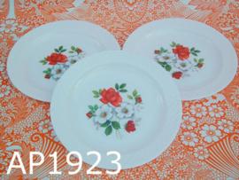 Arcopal ontbijtbordjes 'Wilde rozen' (set van 3)