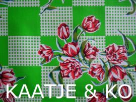 Tafelkleed Mexicaans tafelzeil  3 meter 'Tulipanes groen'