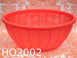 Grote plastic mand rond 'Retro' rood