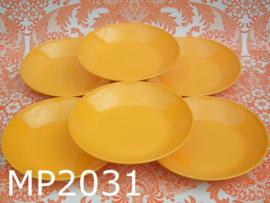 Mepal diepe borden 'Seventies' geel (set van 6)