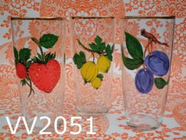 Fluitjes/bierglazen 'Sixties/Seventies' (set van 3)
