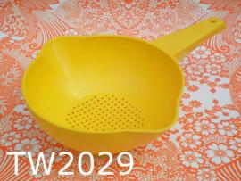 Tupperware vergiet met handgreep geel