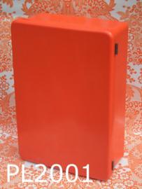 Plaster bakeliet medicijnkastje 'Early seventies' oranje