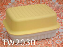 Tupperware kaasdoos 'Seventies' geel/crème