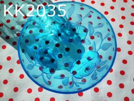 Schaaltje 'Rosa' blauw
