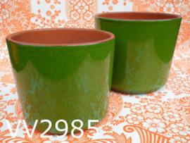 Bloempotten keramiek 'Seventies' groen (set van 2)