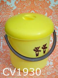 Curver luieremmer 'Seventies' geel/bruine beertjes