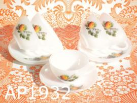 Arcopal kop & schotels 'Fruit' (set van 5)