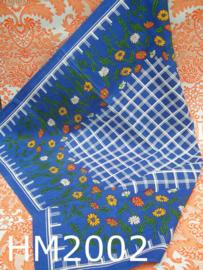 Hema tafelkleedje 'Retro NIEUW' blauw/bloemen