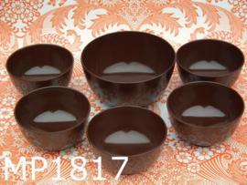 Mepal-Service schalenset bruin (6-delig)