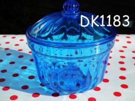 Suikerpot met deksel 'Retro' blauw