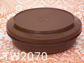 Tupperware bewaardoos rond 'Seventies' bruin