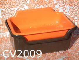 Curver aardappelbak 'Seventies' oranje/bruin