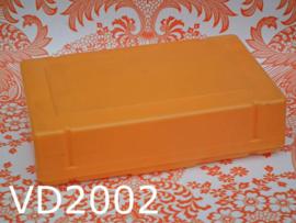 Vendex broodtrommel/lunchbox 'Seventies' geeloranje