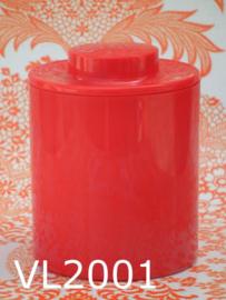 Valon Design voorraadpot/voorraadbus 'Sixties' rood