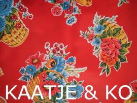 Tafelkleed Mexicaans tafelzeil  3 meter 'Ramilette rood'