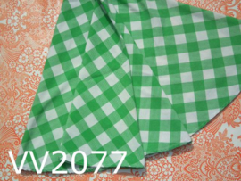 Tafelkleed rond 'Retro' ruit groen/wit