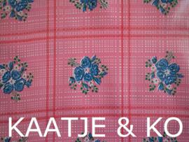 Tafelkleed Mexicaans tafelzeil  3 meter 'Ramitos roze'