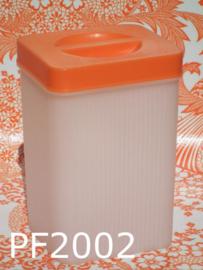 S.A. Palmafina plastic voorraadbus/bewaarbus 'Fifties' crème/oranje