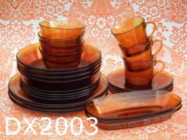 Duralex 4-persoons servies 'Seventies' amber ( 25-delig)