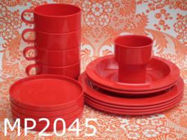 Mepal servies 'Eighties' rood (15-delig)