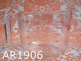 Arcuisine maatbeker gehard glas 1 liter