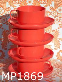 Mepal soepkop & schotels oranjerood (8-delig)