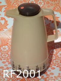Fabriqué RFA thermoskan 'Seventies' beige/bruin decor