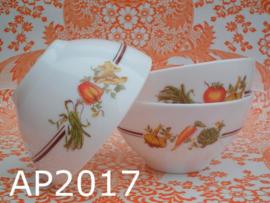 Arcopal soepkommen/schaaltjes 'Légumes/Groentes'  (set van 3)