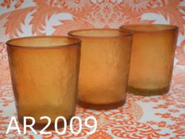 Arcoroc Sierra glazen (set van 3) amber/oker