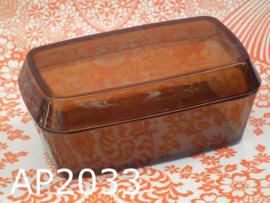 Arcopal botervloot glas 'Seventies' oranjebruin