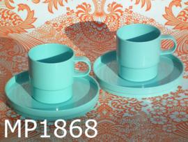 Mepal kop & schotels licht aquablauw  (4-delig)