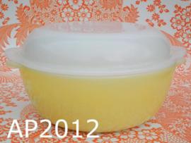Arcopal Opale ovenschaal + deksel 'Sixties' geel